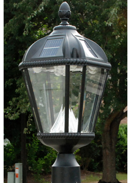 Gama Sonic Royal Solar Lamp Post, one of the best solar lights available.
