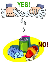 Yes and No Ways to Clean