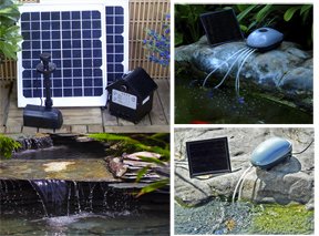 Solar Water Pumps Help Keep Ponds Healthier and Water Moving. Which Mosquitoes Hate.