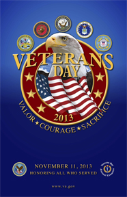 Official 2013 Veterans Day Poster
