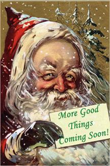 Santa Claus Holding Card