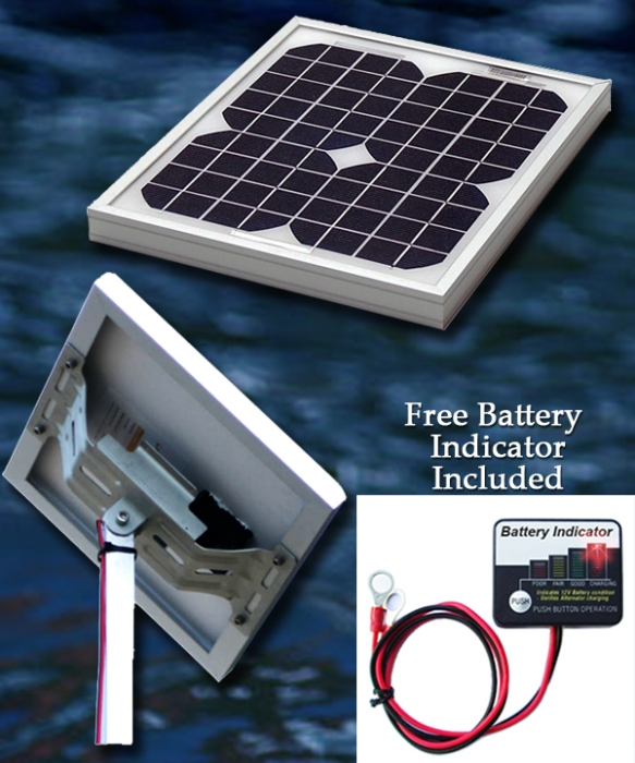 10 Watt, 12 Volt Solar Marine Charger
