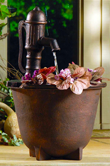 Container style fountain with planter