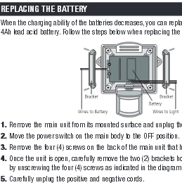 Instructions to change batteries in solar lights