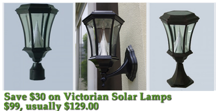 on sale: quality solar lights, Victorian Solar Lamps, gama sonic solar lights