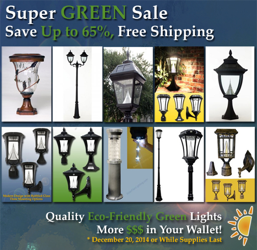 Sale - save up to 65% on Better Solar Lights