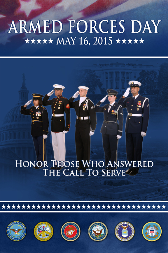 2015 Armed Forces Day Poster